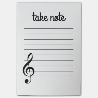Bloco Post-it Tome a nota notas de post-it musicais