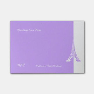 Bloco Post-it Torre Eiffel da lavanda