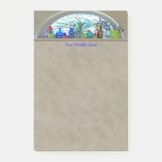 Bloco Post-it Trabalhos de arte de Digitas da aguarela da janela