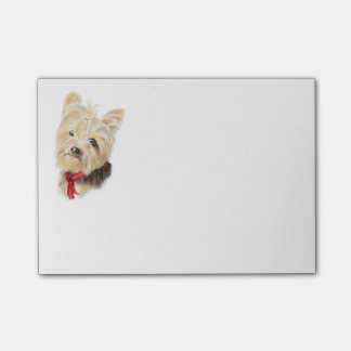 Bloco Post-it Yorkshire terrier pequeno bonito de Yorkie da