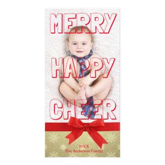 Bloco vermelho do elogio feliz alegre - cartão com