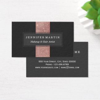 Blocos cor-de-rosa modernos da cor do preto do cartão de visitas