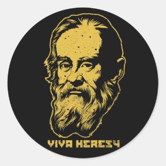 "Blocos da etiqueta do heresia de Galileo ""Viva"" Adesivo"