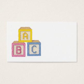 Blocos do bebê cartão de visitas