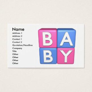 blocos do brinquedo do bebê 3D Cartão De Visitas