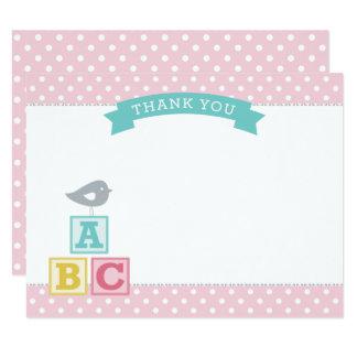 Blocos lisos dos cartões de agradecimentos   ABC