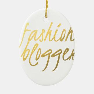 Blogger da forma - roteiro do ouro ornamento de cerâmica oval