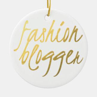 Blogger da forma - roteiro do ouro ornamento de cerâmica redondo