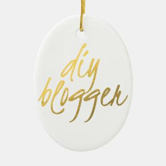 Blogger de DIY - roteiro do ouro Ornamento De Cerâmica Oval
