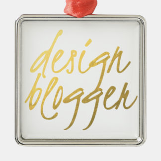 Blogger do design - roteiro do ouro ornamento quadrado cor prata