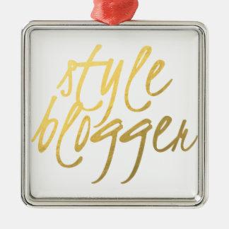 Blogger do estilo - roteiro do ouro ornamento quadrado cor prata
