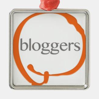 Bloggers Ornamento Quadrado Cor Prata