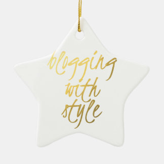 Blogging com estilo - roteiro do ouro ornamento de cerâmica estrela