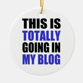 Blogging Ornamento De Cerâmica Redondo