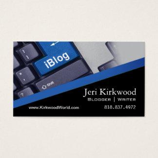 Blogue de WordPress do escritor da notícia do Cartão De Visitas