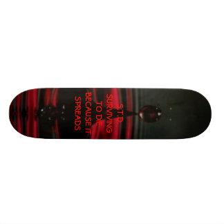 BloodDrip, S.T.D.SURVIVNG a DIEBECAUSE ELE SPRE… Shape De Skate 18,4cm