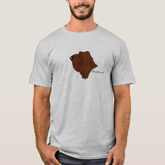 Bloodhound cabeça silhueta camiseta