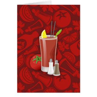 Bloody Mary Cartão Comemorativo
