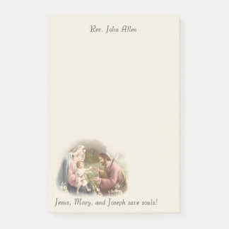 Bloquinho De Notas A família santamente Jesus Mary St Joseph