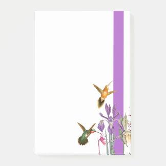 Bloquinho De Notas A íris do colibri floresce notas de post-it da