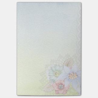 Bloquinho De Notas Aguarela e flores