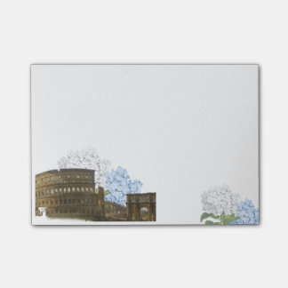 Bloquinho De Notas Almofada de nota azul antiga do Hydrangea de Roma