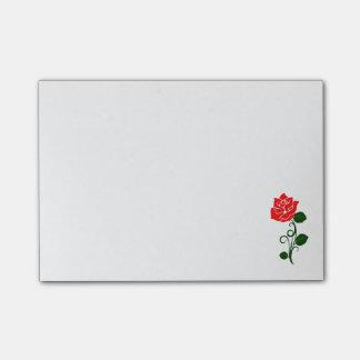 Bloquinho De Notas Almofada de nota da rosa vermelha