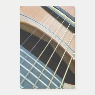 Bloquinho De Notas Almofada de nota do post-it com imagem da guitarra