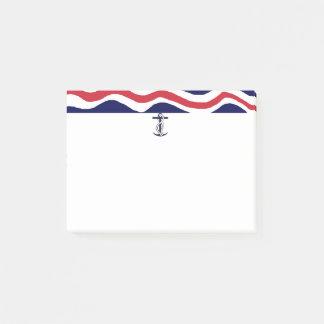 Bloquinho De Notas Amantes náuticos do barco das notas de post-it