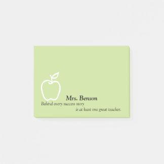 Bloquinho De Notas Apple com citações do professor personalizou 4 x 3