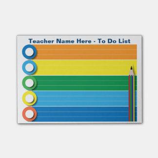 Bloquinho De Notas Arco-íris para fazer a lista - notas de post-it