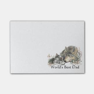 Bloquinho De Notas Arte do lobo da aguarela do pai do mundo a melhor