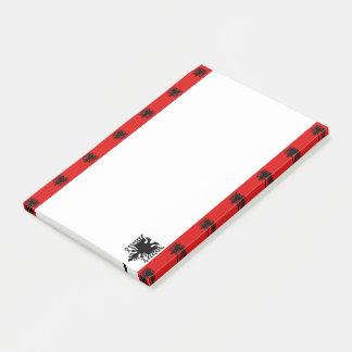 Bloquinho De Notas Bandeira albanesa das listras