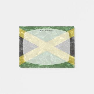 Bloquinho De Notas Bandeira jamaicana - enrugada