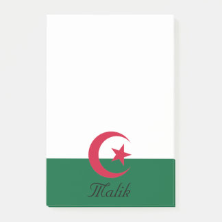Bloquinho De Notas Bandeira personalizada da estrela e da lua do