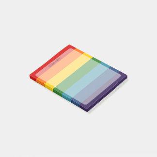 Bloquinho De Notas Bares do arco-íris personalizados