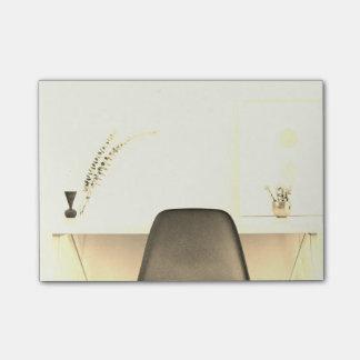 Bloquinho De Notas Cadeira minimalista do ouro da mesa de