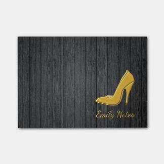 Bloquinho De Notas Calçados de madeira personalizados do salto alto