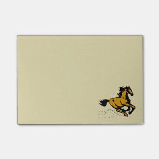 Bloquinho De Notas Cavalo de galope selvagem e livre