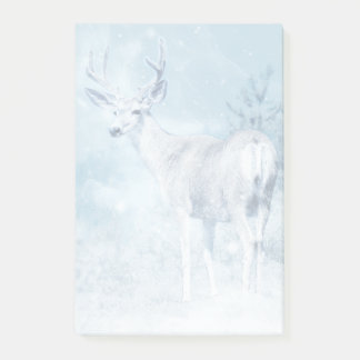Bloquinho De Notas Cervos e pinheiros do inverno