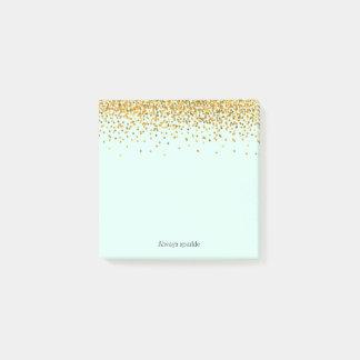 Bloquinho De Notas Confetes da faísca da hortelã do ouro