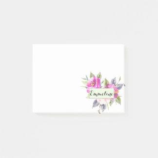 Bloquinho De Notas Dama de honra floral personalizada da aguarela