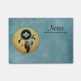 Bloquinho De Notas Dreamcatcher em um fundo azul