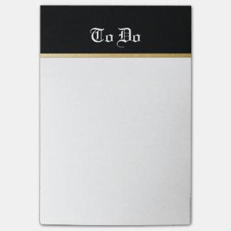 Bloquinho De Notas Elegante para fazer notas da lista