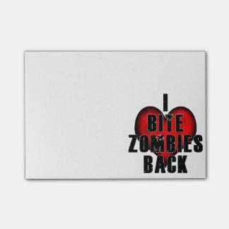 Bloquinho De Notas Eu mordo o post-it dos zombis
