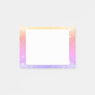 Bloquinho De Notas Faísca do brilho do ouro da lavanda do rosa Pastel