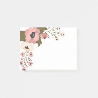 Bloquinho De Notas Flores florais do rosa da aguarela