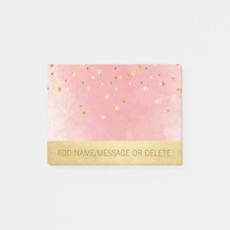 Bloquinho De Notas Folha de ouro cor-de-rosa personalizada do falso