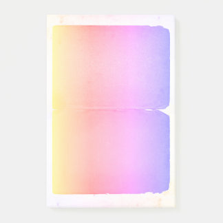 Bloquinho De Notas Folhas roxas cor-de-rosa amarelas Pastel de Ombre