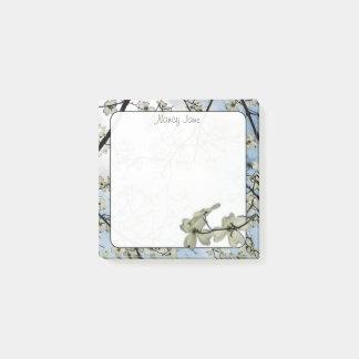 Bloquinho De Notas Fotografia floral do céu azul do Dogwood do